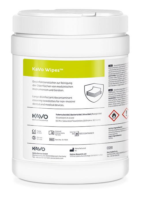 KaVo Wipes Desinfektionstücher für dentale Instrumente und Geräte